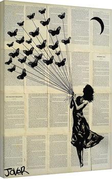 Loui Jover - Butterflying Billede på lærred