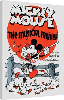 Mickey Mouse - The Musical Farmer Billede på lærred