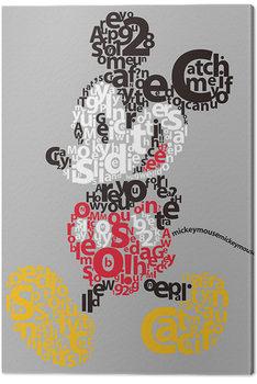 Mickey Mouse - Type Billede på lærred