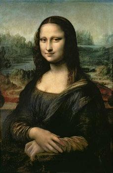 Mona Lisa, c.1503-6 Billede på lærred