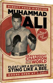 Muhammad Ali - Retro - Corbis Billede på lærred