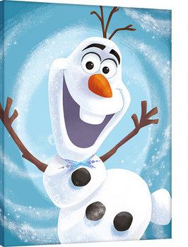 Olaf's Frozen Adventure - Happy Billede på lærred