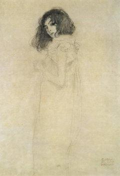 Portrait of a young woman, 1896-97 Billede på lærred