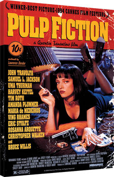 Pulp Fiction - Cover Billede på lærred