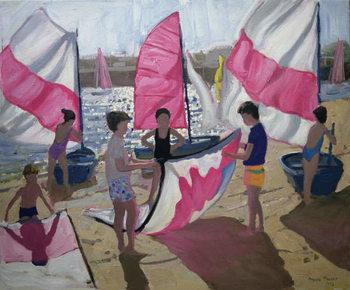 Sailboat, Royan, France, 1992 Billede på lærred