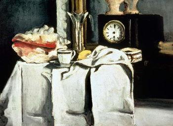 The Black Marble Clock, c.1870 Billede på lærred