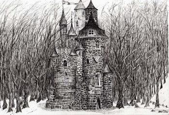 The Castle in the forest of Findhorn, 2006, Billede på lærred