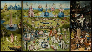 The Garden of Earthly Delights, 1490-1500 Billede på lærred