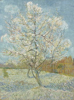 The Pink Peach Tree, 1888 Billede på lærred
