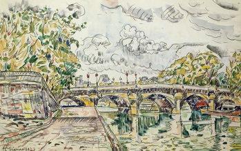 The Pont Neuf, Paris, 1927 Billede på lærred