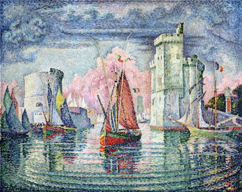 The Port at La Rochelle, 1921 Billede på lærred