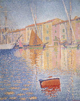 The Red Buoy, Saint Tropez, 1895 Billede på lærred