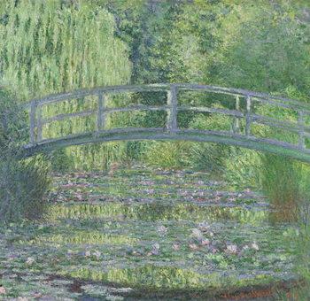 The Waterlily Pond: Green Harmony, 1899 Billede på lærred