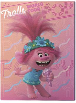 Trolls på verdensturné - Poppy Billede på lærred