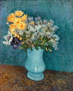 Vase of Flowers, 1887 Billede på lærred