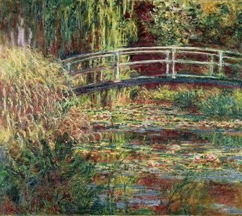 Waterlily Pond: Pink Harmony, 1900 Billede på lærred