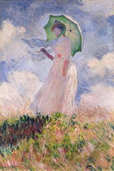 Woman with Parasol turned to the Left, 1886 Billede på lærred