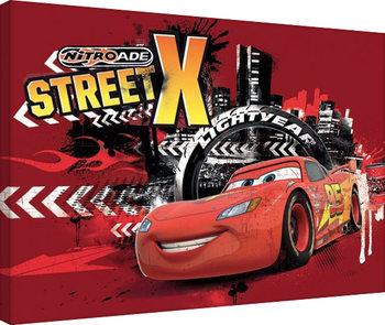 Biler - Street X Billede på lærred