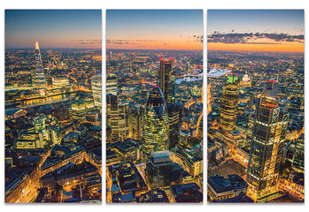 Jason Hawkes - London at Night Billede på lærred