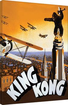 King Kong - Plane Billede på lærred