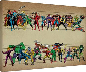 Marvel Comics - Line Up Billede på lærred