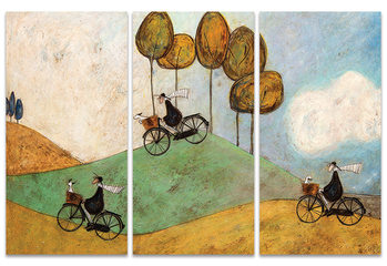 Sam Toft - Just One More Hill Billede på lærred