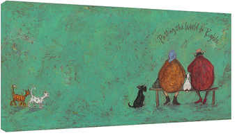 Sam Toft - Putting the words to right Billede på lærred