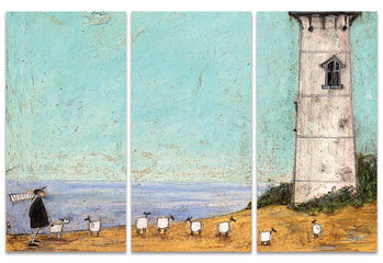 Sam Toft - Seven Sisters And A Lighthouse Billede på lærred