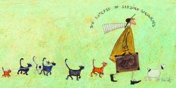 Sam Toft - The suitcase of sardine sandwiches Billede på lærred