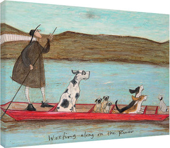 Sam Toft - Woofing along on the River Billede på lærred