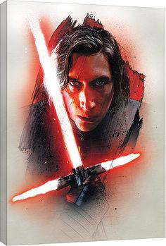Star Wars: The Last Jedi -Kylo Ren Brushstroke Billede på lærred