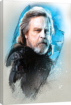 Star Wars: The Last Jedi -Luke Skywalker Brushstroke Billede på lærred