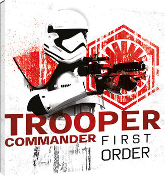 Star Wars: The Last Jedi -Tooper Commander First Order Billede på lærred