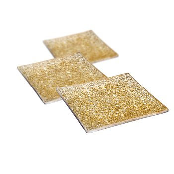 Candle Coaster Gold 12 cm, set of 3 pcs Lakberendezés