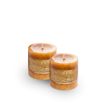Candle Holder - Christmas Sugar, Gold, 17cm, set of 2 pcs Lakberendezés