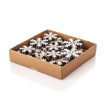 Christmas Box Wooden Snowflakes, Various Sizes Lakberendezés