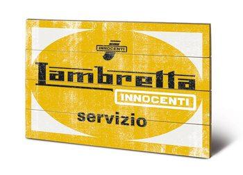 Poster su legno Lambretta servizio