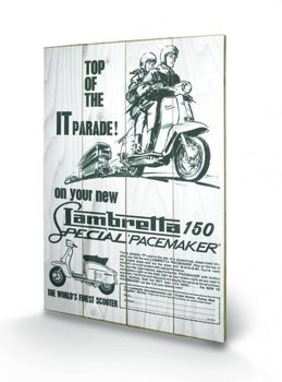 Poster su legno Lambretta - top of the IT parade