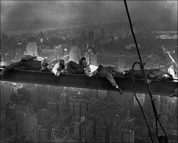 Reproducción de arte Anonimo - Radio City Workers