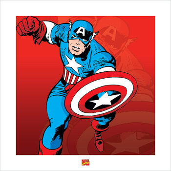 Reproducción de arte  Captain America - Marvel Comics
