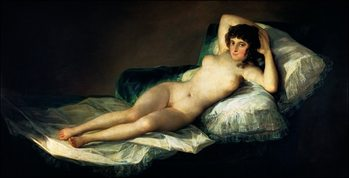 Reproducción de arte F.De.Goya - La Maja Desnuda