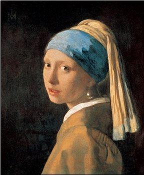 Lámina Girl with a Pearl Earring,1665