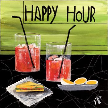 Reproducción de arte Happy Hour