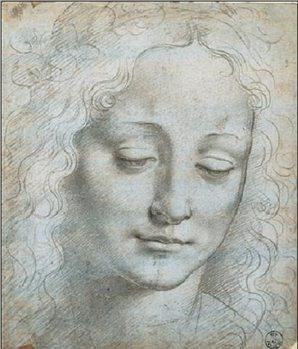Reproducción de arte Head of a Woman