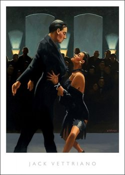 Reproducción de arte  Jack Vettriano - Rumba In Black