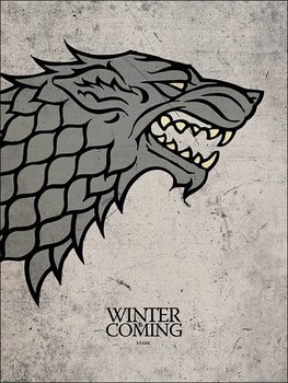 Reproducción de arte Juego de Tronos - Game of Thrones - Stark
