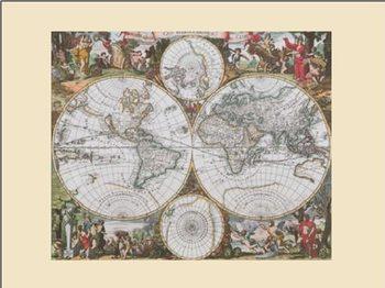 Lámina Mapa histórico del Mundo