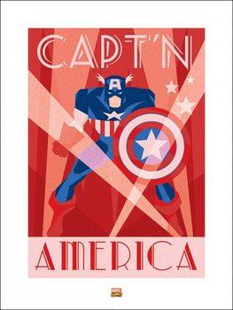 Reproducción de arte Marvel Deco - Captain America