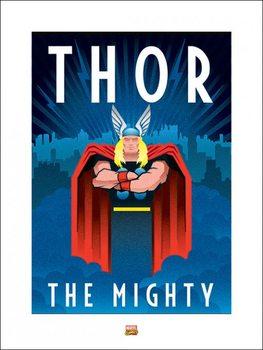 Reproducción de arte Marvel Deco - Thor