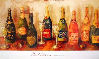 Reproducción de arte Metallic Wines